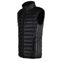 Men S Autumn Winter Casual Slim Fit Brand Hot White Duck Down Warm Fashion Vest Outwear