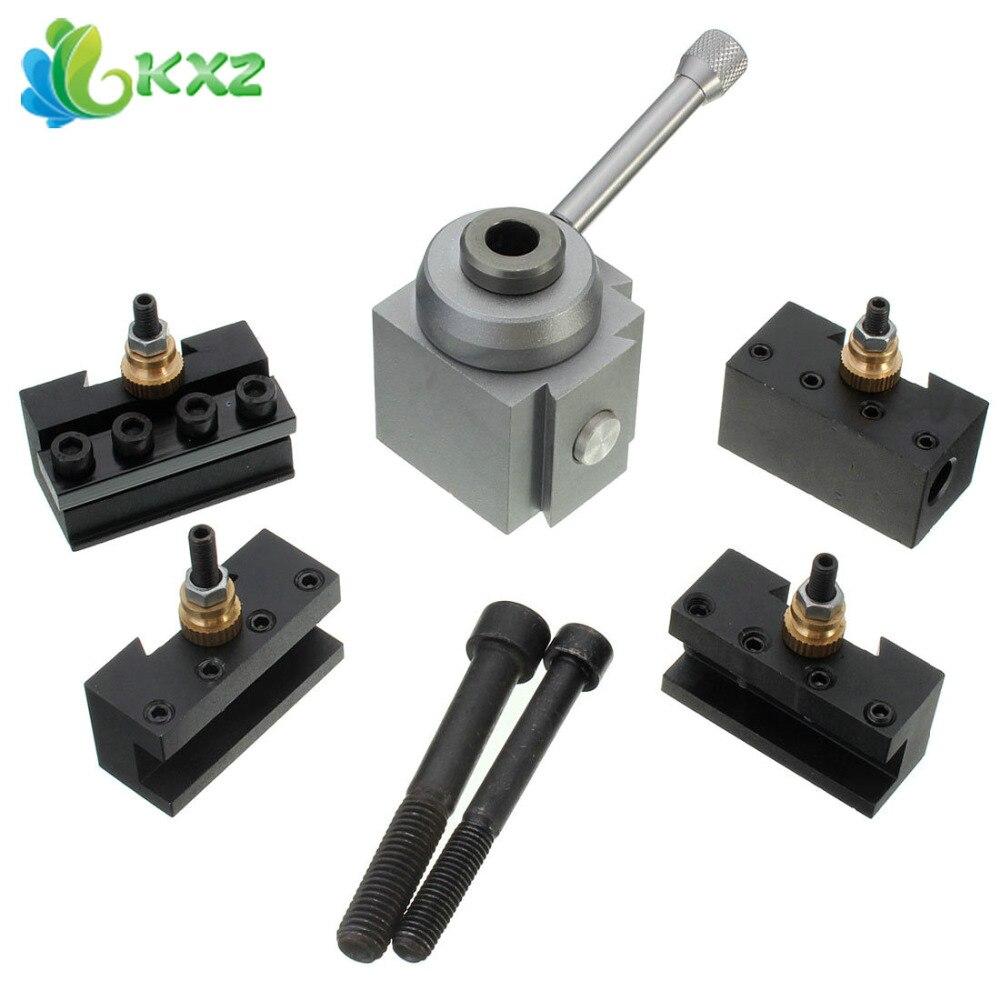 Mini Metal Quick Change Tool Post Holder Boring / Turning Facing Holder Kit Set for Table Hobby Lathes