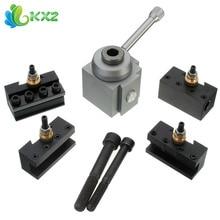 Mini Metal Holder Cambio Rápido Portaherramientas Aburrido/Girando Titular Frente Kit Set para Mesa de Hobby Tornos