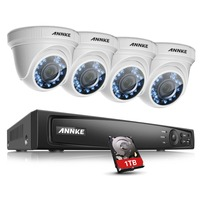 ANNKE 1080P 4CH Security CCTV DVR 1T 2MP Outdoor Camera Home System Smart Search