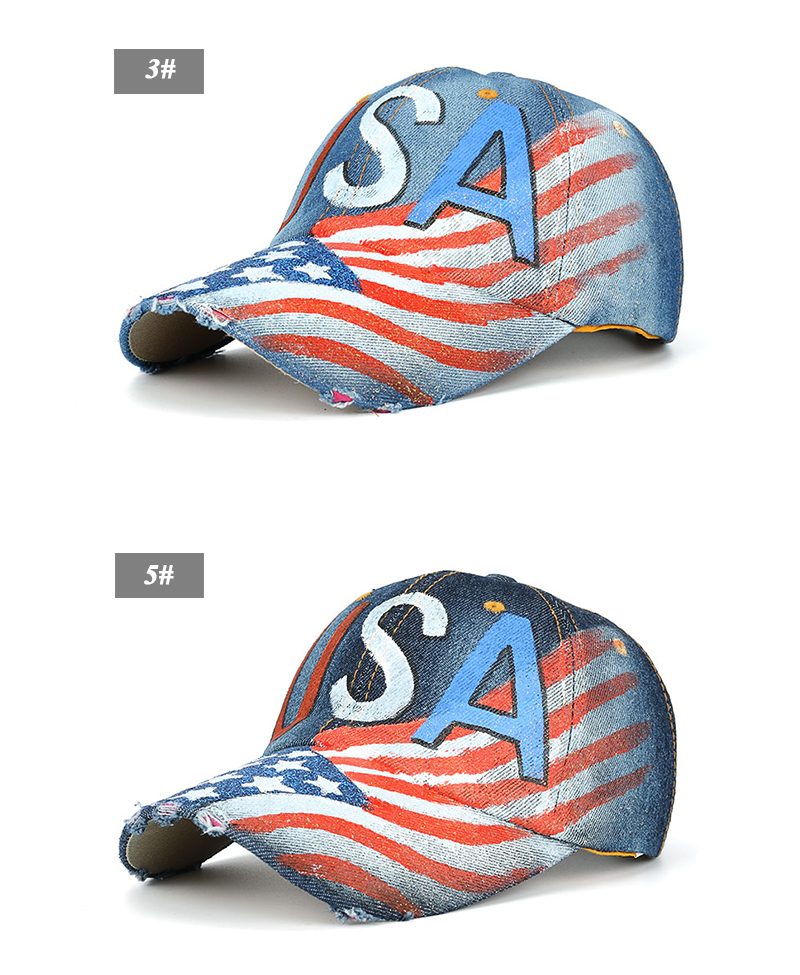 """""""USA"""" Flag Screen Print Dad Hat - Front Angle View"""
