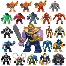 QUINEE OX The Marvel Hulk Figures Avengers Super Heroes Action Figure Toys Batman Thanos Model Children Birthday Gifts