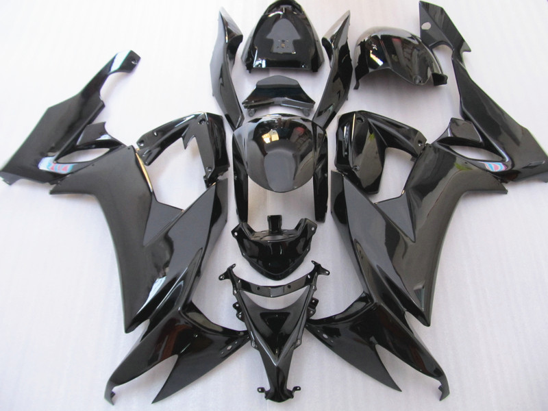 Customize ABS plastic motorcycle fairing set for Kawasaki ZX 10R 2008 2009 2010 full black road Fairings Ninja ZX10R 08 09 10 customize abs plastic fairing for kawasaki purple black zx9r 02 03 motorcycle body repair fairings ninja zx 9r 2002 2003 y3w4