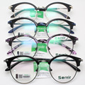 Forme a Restablecimiento las Maneras Ronda Espejo Marco de Cristal Liso Marco Corea Delgadas Piernas Exceder Luz Tr 90 Montura de gafas de La Miopía