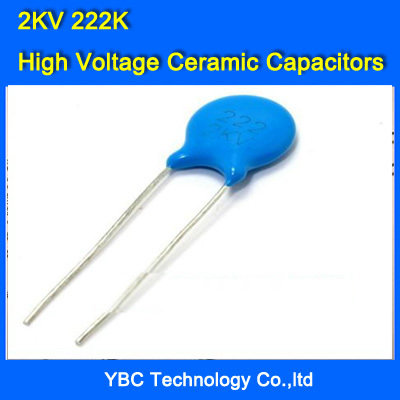 Free Shipping 1000pcs/lot High Voltage Ceramic Capacitors 2KV 2000V 222 2200PF