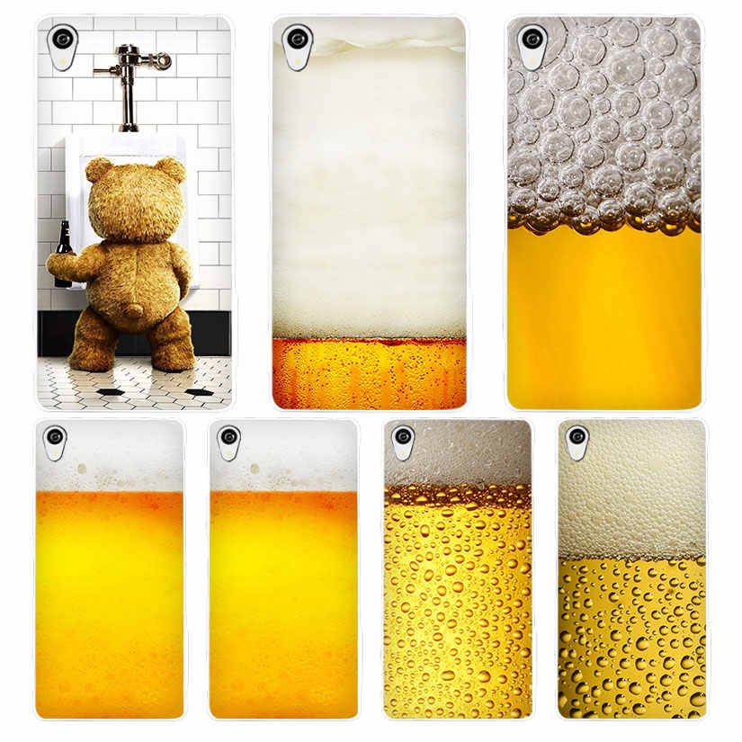 Летние пиво белый чехол для телефона Sony Xperia z1 z2 z3 Z4 Z5 M4 Aqua C4 XA XZ e4 e5 L36H