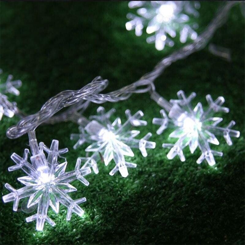 220 v Spina di UE Nuovo 5 m 28 LED Fiocco di Neve Albero di Luci Leggiadramente Della Stringa Di Natale di Natale Del Partito di Nozze sala interna decorazione Luci Natale