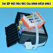 NEW 907 906 Continuous Ink Supply System For HP 908 909 HP907 HP906 Ciss Without Chip FOR HP OfficeJet 6950 6960 6968 6970-6979