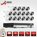 16CH Sistema de Câmera de Segurança AHD 1080N Kit DVR HDMI 720 P 1800TVL IR Ao Ar Livre Câmera de CCTV de Vigilância de Vídeo Em Casa Kits de E-mail alerta