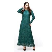 2016 кафтан джилбаба Исламская Мусульманский Абаи Для женщин шифоновое макси с длинным рукавом платье