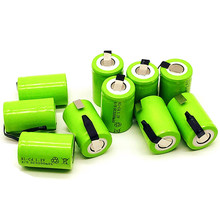 20PCS 4/5SC 1.2V rechargeable battery 3200mAh 4/5 SC Sub C Ni-CD cell with welding tabs for electric drill screwdriver все цены