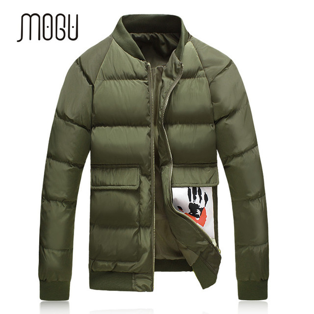 Hot-selling 2016 Winter Thickening Winter Jacket Men Plus Size Down Jacket Men Wadded Coat Black Green Gray