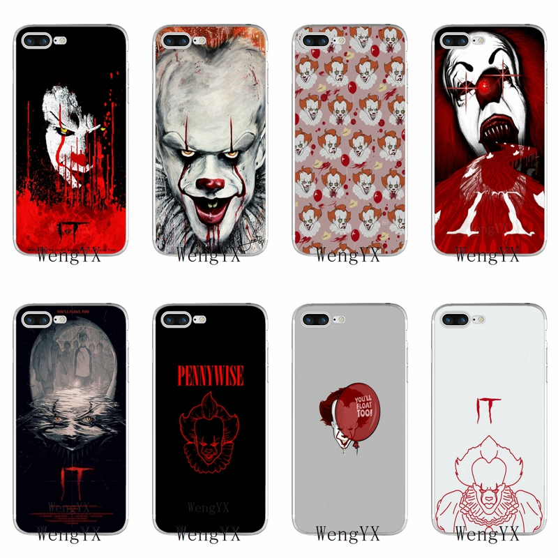 Stephen Kings It Pennywise Clown Horror TPU Soft phone case For Huawei Honor 4C 5A 5X 5C 6 Play 6X 6A 6C pro 7X 8 9 Lite V8 V10