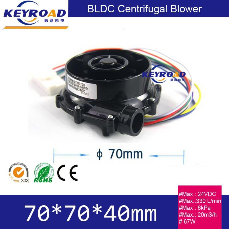 Nagynyomású és alacsony zajszintű 67W mini 24 V DC elektromos kefe nélküli ventilátor 46000rpm 6,5kpa elektromos légfúvó kis centrifugális ventilátor