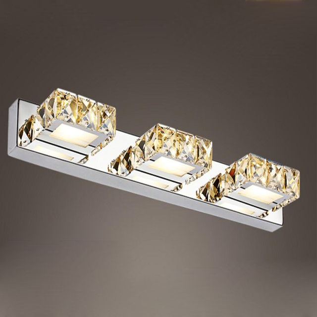 led modern wall mirror lamp bathroom luxury makeup mount light applique liseuse led crystal wall sconce