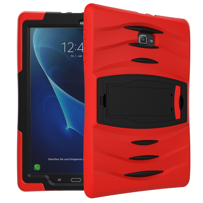 For Samsung Galaxy Tab A a6 10.1 SM-T580 T585 T580N  Assembly Heavy Duty Cover Shock Proof Tablet Silicone Hard Case Stand Case tire style tough rugged dual layer hybrid hard kickstand duty armor case for samsung galaxy tab a 10 1 2016 t580 tablet cover