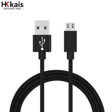 HKkais Nylon Braided Micro USB Fast Charging Microusb Data Charger Cable Mobile Phone Cable for Samsung Xiaomi LG HTC Android