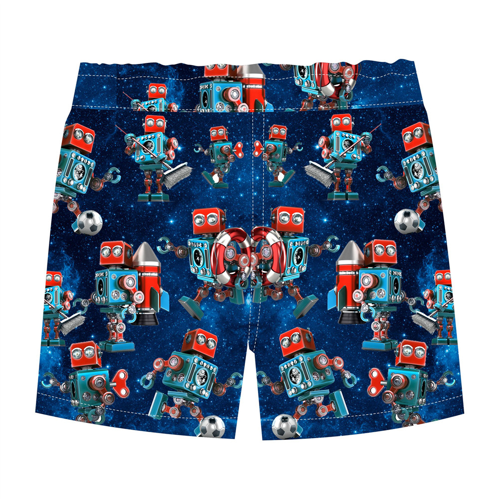 25a5eee0e4c summer baby boy shorts infant pants toddle clothes boys blue pants fun  robot Pattern printing kids shorts 2 10Y-in Shorts from Mother   Kids on ...