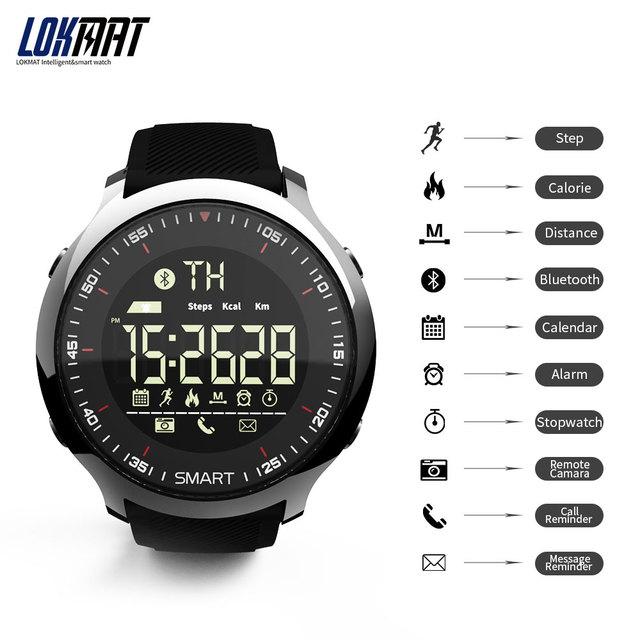 LOKMAT Sport Watch Bluetooth Waterproof Men Smart Watch Digital Ultra-long Standby Support Call And SMS Reminder SmartWatch