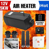 CAN 12V 5KW Diesels Air Car Heater Single hole for RV, Motorhome Trailer, Trucks, Boats Rotary Switches