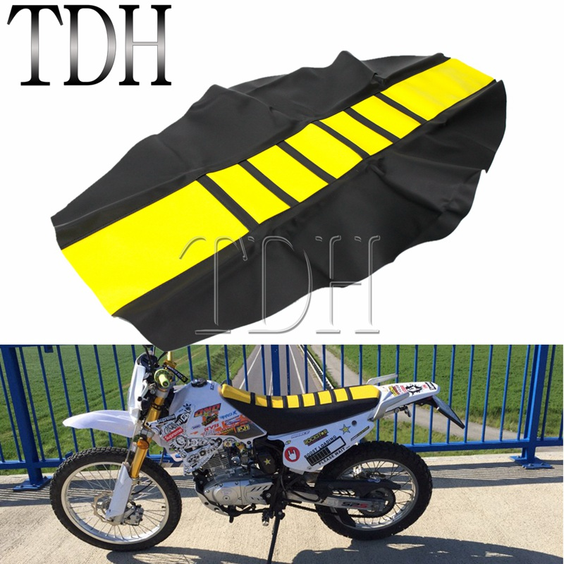 Yellow Gripper Soft Seat Cover for Suzuki DR650 <font><b>DR</b></font>-Z400 RM-Z RM <font><b>DR</b></font> <font><b>DR</b></font>-Z RMZ 125 <font><b>250</b></font> 450 650 Seat Cushion Pad Shield image