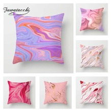 Fuwatacchi Oil Painting Cushion Cover Pink Romantic Throw Pillow Decorative Sofa Case Pillowcase