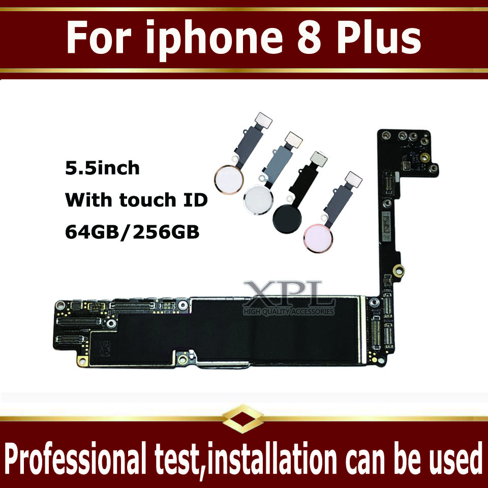 Factory unlocked Logic board for <font><b>iphone</b></font> <font><b>8</b></font> Plus <font><b>Motherboard</b></font> <font><b>with</b></font> / without <font><b>Touch</b></font> <font><b>ID</b></font>,clean iCloud for <font><b>iphone</b></font> 8P Mainboard,IOS Plat image