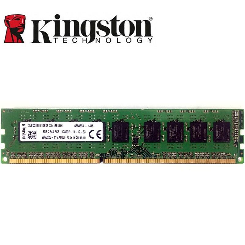 Kingston GB 4 GB ECC 8 DDR3 PC3 12800E 10600E 14900E 1600 MHZ 1333 Mhz 14900 Mhz desktop Memória Do Servidor 2 8G RAM DIMM 240pin X 8G = 16 GB