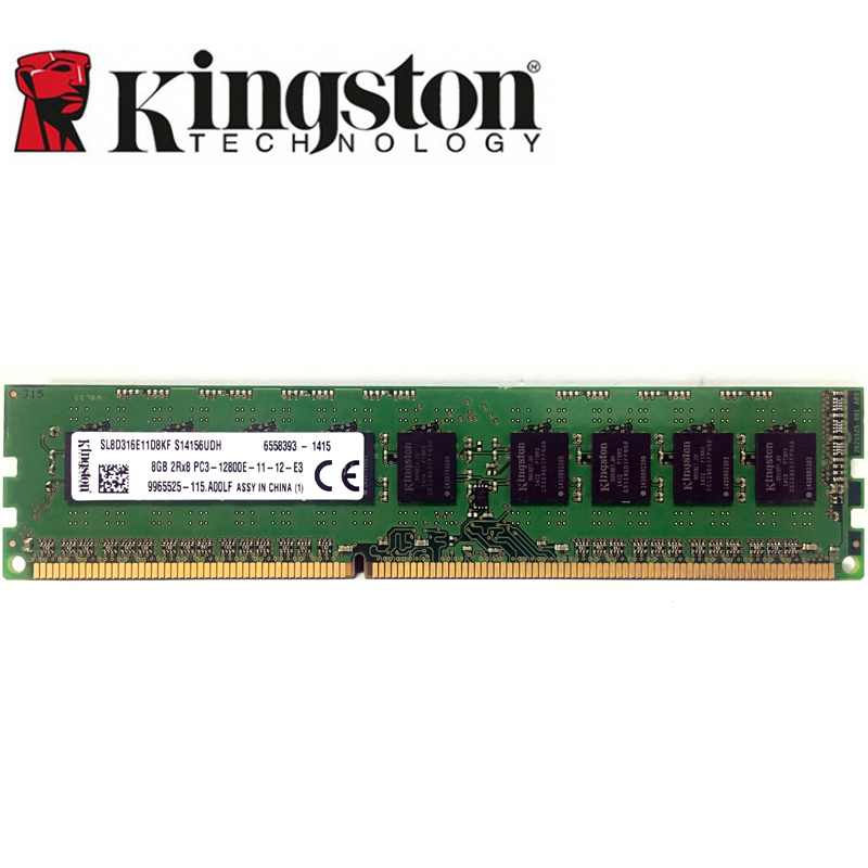 Kingston 8GB 4GB ECC <font><b>DDR3</b></font> PC3 12800E 14900E 1600MHZ 1333Mhz 10600E 14900Mhz Server <font><b>desktop</b></font> Memory 240pin 8G DIMM <font><b>RAM</b></font> 2X8G=<font><b>16GB</b></font> image