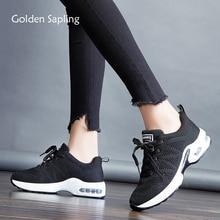 ed273c4ec2720 الذهبي الشتلة عالية الجودة المرأة أحذية رياضية تنفس حك شبكة وسادة هوائية  الطريق المسار احذية الجري للنساء جديد أحذية رياضية
