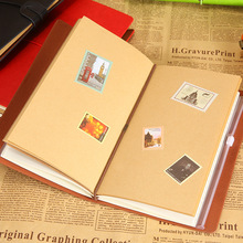 RuiZe stationery vintage travel journal book A6 leather diary soft cover travelers notebook can engrave name a best gift