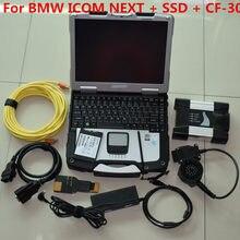 V2020.12 para bmw icom próximo com portátil CF-30 mais novo icom a + b c para bmw diagnóstico automático & programação scanner engenheiros modelo