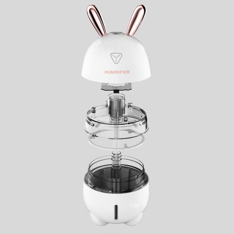 300ml USB 3 In 1 Cute Rabbit Shaped Air Humidifier With LED Night Light Fan Aromatherapy Machine Spray 3 Functions-Humidifier