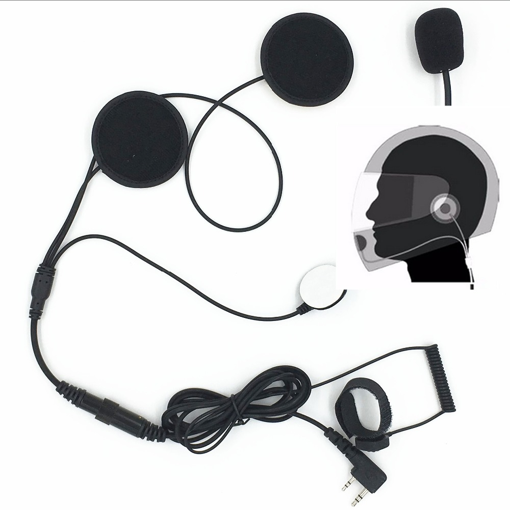 Neue 2PIN finger PTT walkie talkie Motorrad Helm Headset Ohrhörer für zweiwegradio baofeng uv-5r uv-5ra e bf-888s gt-3 GT-3T