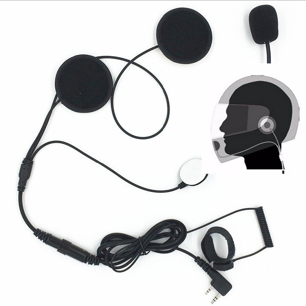 Nouveau 2PIN doigt PTT talkie walkie Moto Casque Casque Écouteur pour Radio Bidirectionnelle Baofeng UV-5R UV-5RA E BF-888S GT-3 GT-3T