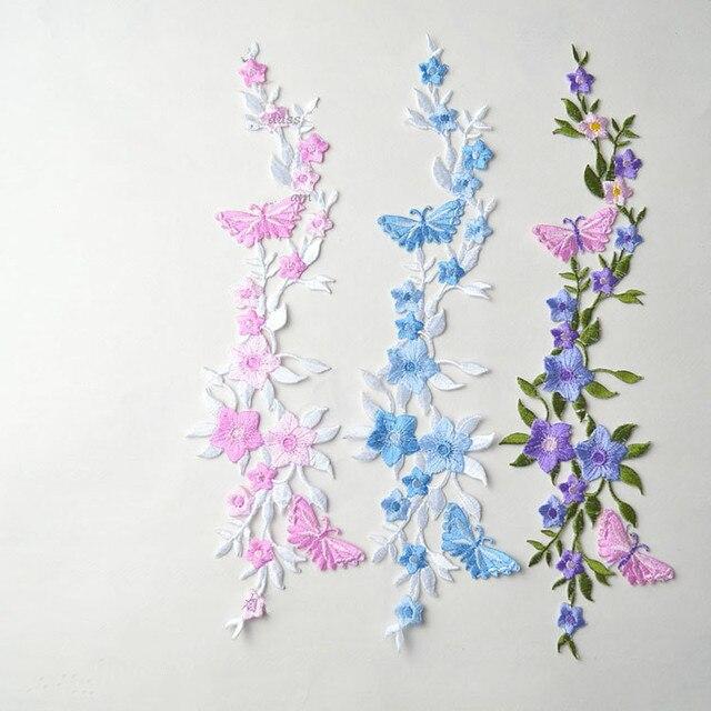 Aliexpress.com: Comprar Mariposas y flores Bordado hierro en coser ...