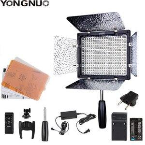 Светодиодный светильник Yongnuo YN300III, светильник для фото-и видеосъемки 3200k-5500K CRI95, с адаптером питания переменного тока + комплектом батарей, о...