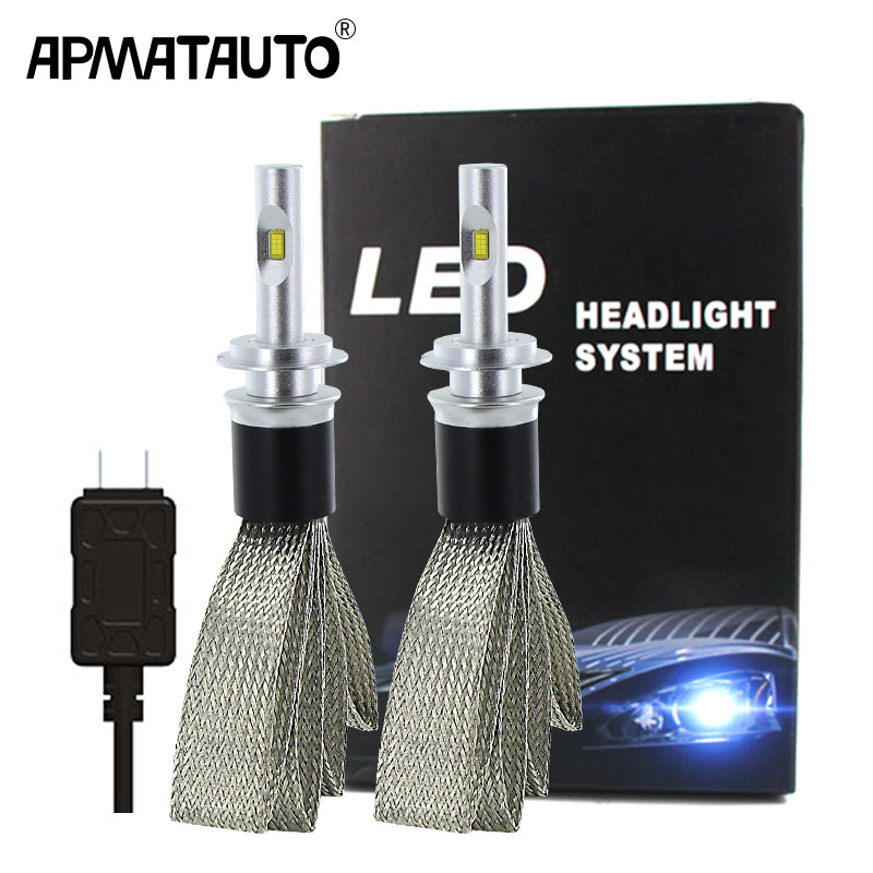 2Pcs H4 LED H7 H11 H8 9006 HB4 HB3 H9 H16(JP) 9012 Car Headlight Bulbs LED Lamp With Flip Chips 9600LM Auto Fog Lights 6000K 12V
