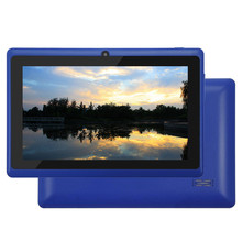 Yuntab Android 4.4 Q88 7 pulgadas Allwinner A33 Quad Core 512 MB/8 GB Tableta Placa Pantalla HD Dual camera2500mAh (Azul)