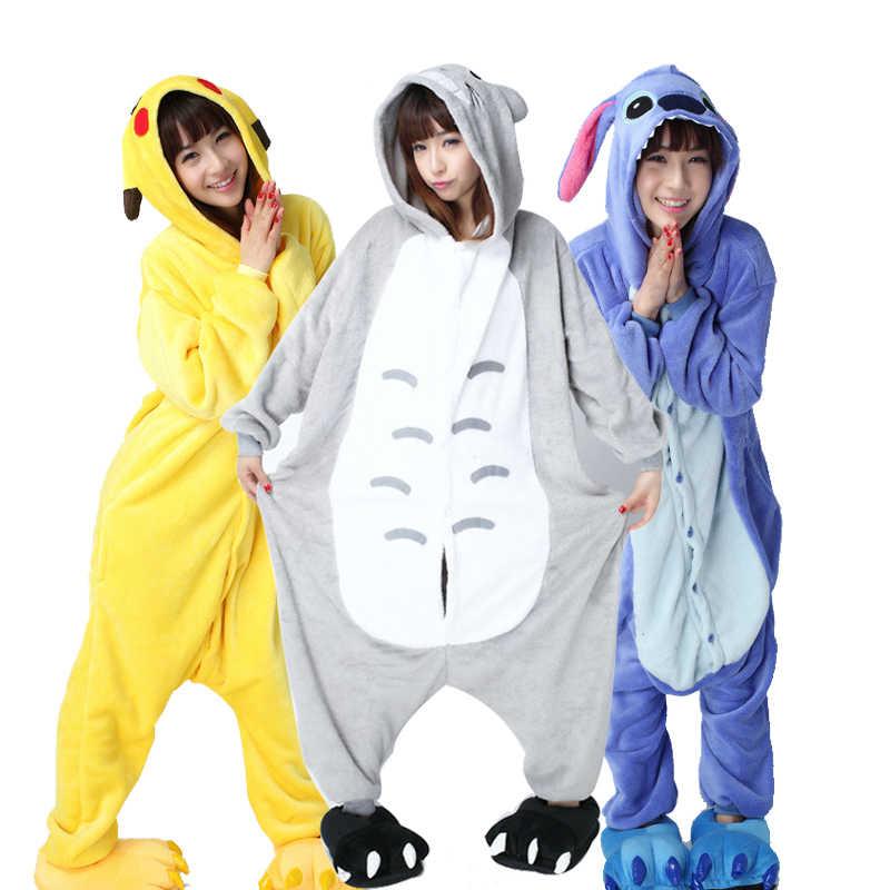 Большие XXL пижамы кигуруми для взрослых фланелевые животные Комбинезоны  женские цельный комбинезон мультфильм пижамы для рождественского a1cc0bfc8c34c