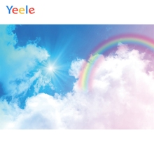 Yeele Rainbow White Cloud Sky Scenery Kid Personalized Photocall Photographic Backdrops Photography Backgrounds For Photo Studio цена