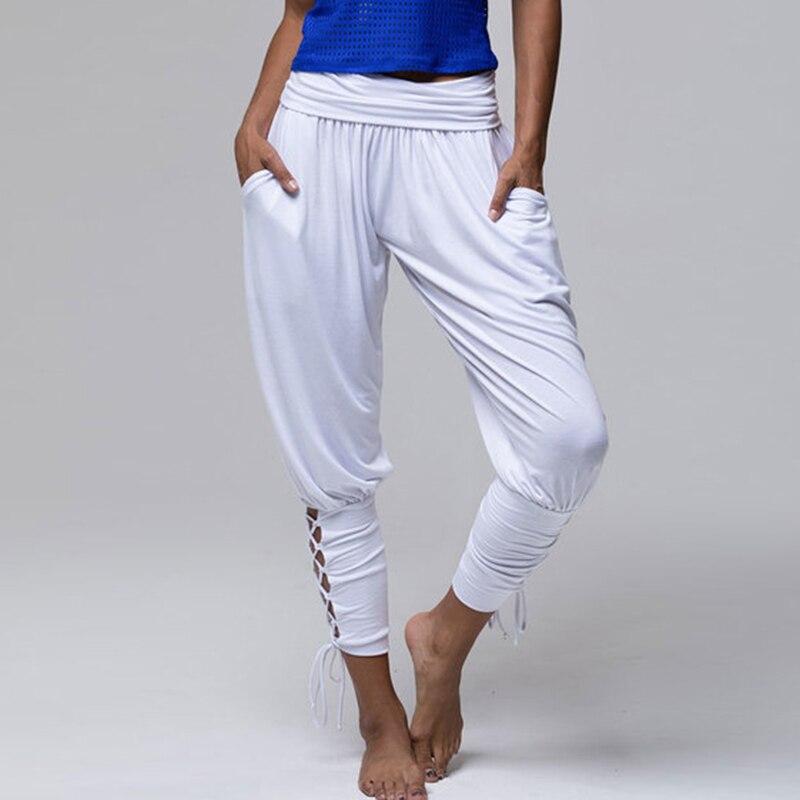 2018 Women Harem Pants Leggings Baggy Fashion Boho Hippy Pants Criss Cross Jogger pants Solid High Waist Trousers Comfy Pants
