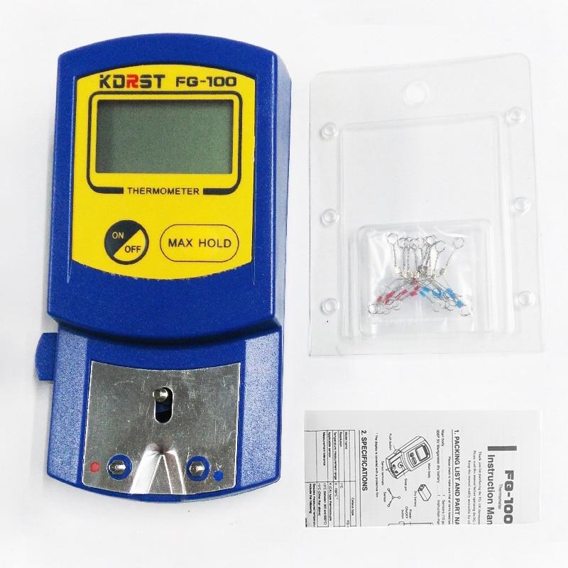 KDRST тестер температуры, цифровой термометр, паяльный Анализатор содержания железа + 10 шт. температурных датчиков (без батареи)