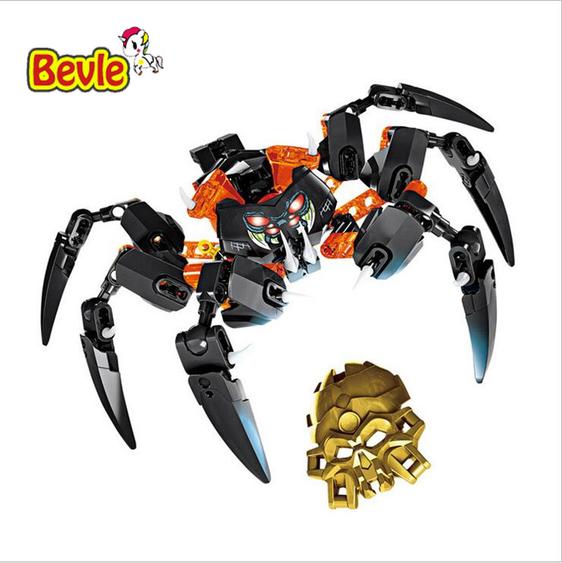BionicleMask of Light XSZ 708-4 Children's Lord Of Skull Spider Building Block Toys Compatible with  Bionicle 70790 цена