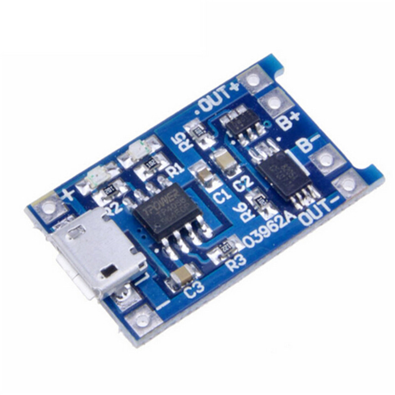 Modules Automatic Protection! micro usb 5 v 1a 18650 dual functions tp4056 lithium battery charging module charging board 4s 8a li ion lithium battery charger protection board 3 7v 14 8v 4 serial pcb charging protection module overcharging protection