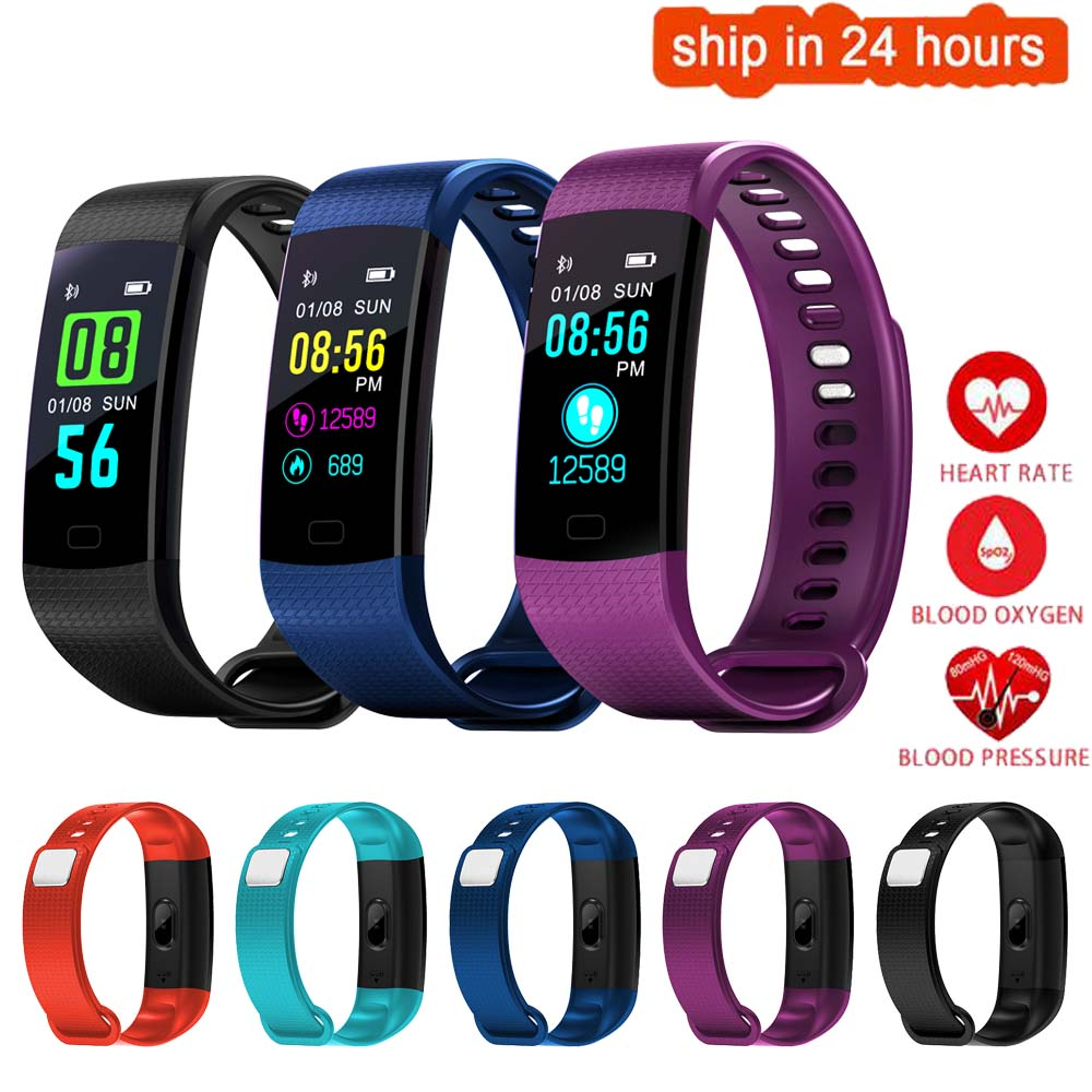 K23 Color Screen Smart Wristband Sports Bracelet Heart Rate Blood Pressure Oxygen Fitness Tracker for Sony Xperia C3 C4 C5 Z5 XZ купить в Москве 2019