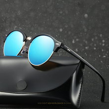 HDSUNFLY Polarized Round Sunglasses Men Women Brand Designer