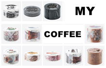 11 Designs Mixed My Coffee Storey Lovely Vintage Fashion Masking Tape Set Free Shipping