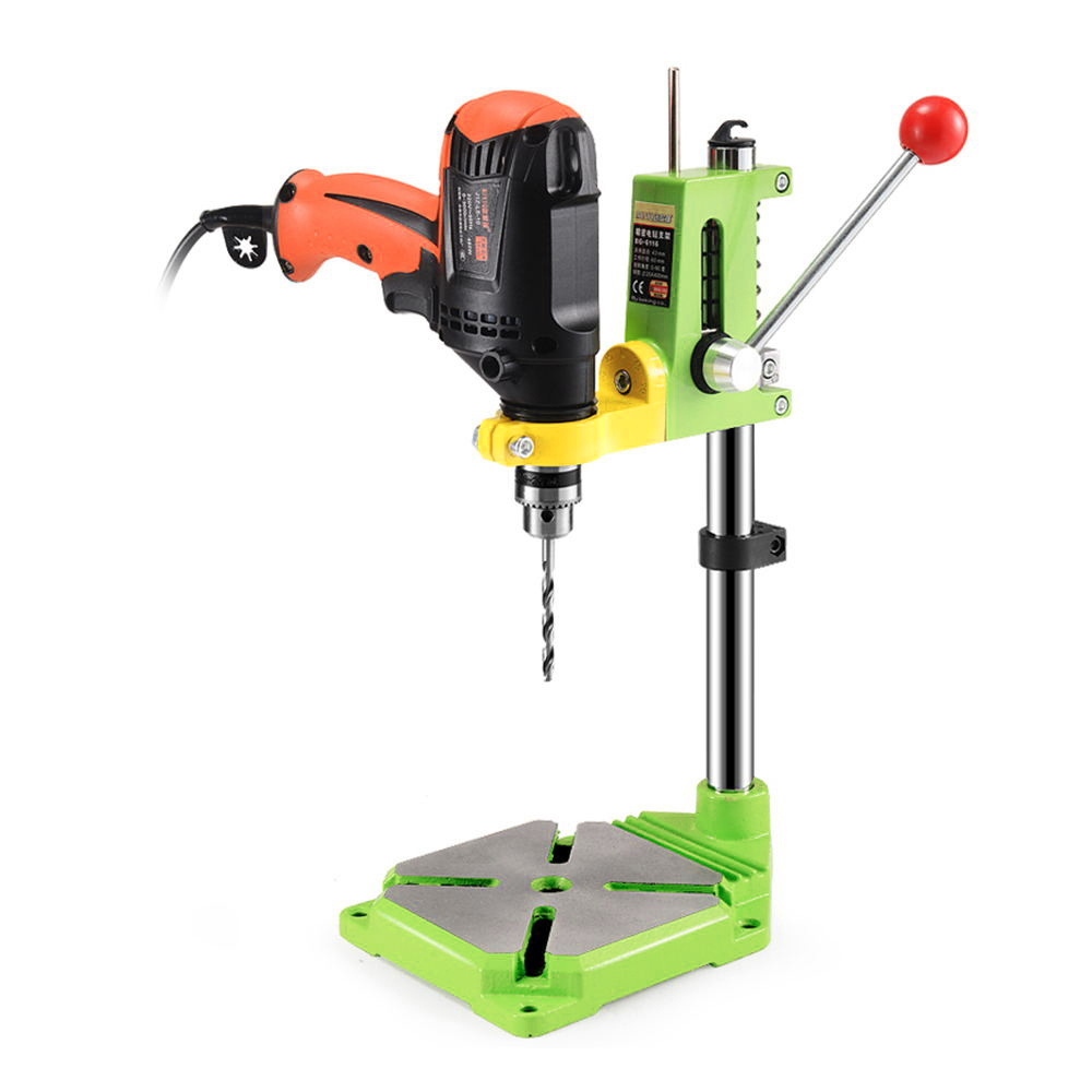 BG-6116 Rotable Electric Drill Stand Power Tools Accessory Bench Drill Press Stand DIY Tool Base Frame Drill Holder Drill Chuck