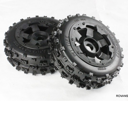 5B Front knobby wheel set  For 1/5 HPI Baja 5B 5T alloy front hub carrier for 1 5 hpi baja 5b 5t 5sc